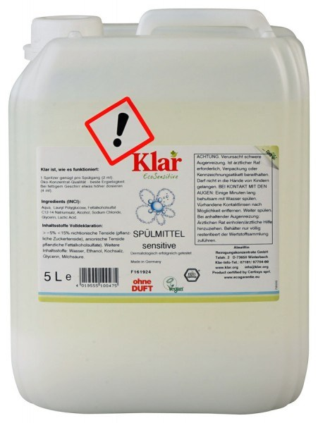 Spülmittel Sensitive 5l